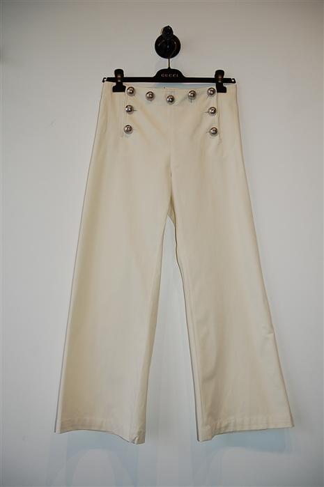 Soft White Gucci Sailor Pant, size S