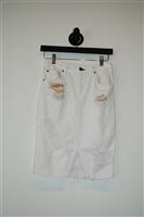 Bright White Rag & Bone Denim Skirt, size XS