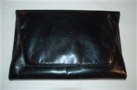 Black Leather Maud Frizon Clutch, size M