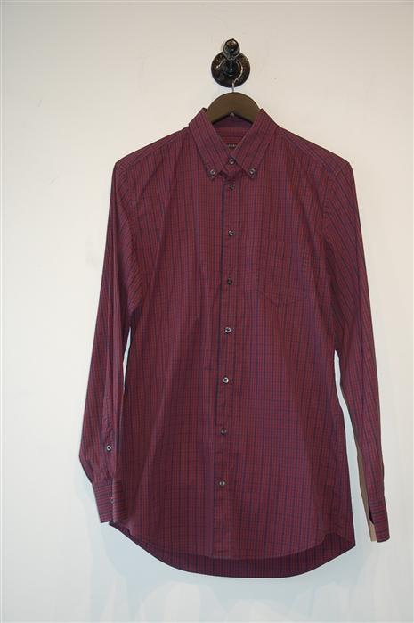 Check Gucci Button Shirt, size M
