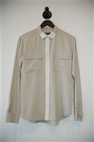 Pale Beige Equipment Button Shirt, size S