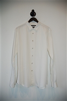 Summer White John Varvatos Star USA Button Shirt, size XL