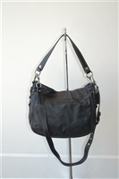 Black Leather Coach Hobo, size S