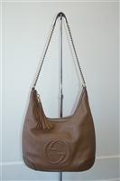 Mocca Gucci Shoulder Bag, size L