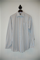 White Stripe Paul Smith - London Button Shirt, size L