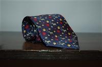 Navy Hermes Tie, size O/S