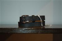 Black Leather Max Mara Belt, size L
