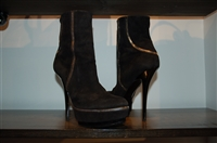 Black Suede Gucci Ankle Boots, size 7.5
