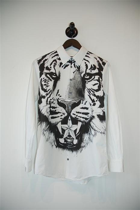 White & Black DSquared2 Button Shirt, size M