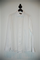 Crisp White Canali Button Shirt, size L