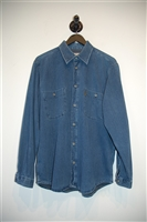 Denim Blue Armani Jeans Denim Shirt, size M