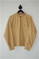 Beige No Label Zippered Jacket, size M