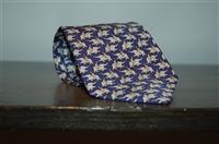 Midnight Blue Hermes Tie, size O/S