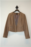 Dark Taupe Joie Leather Jacket, size XS