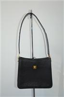 Black Leather Gianni Versace Couture - Vintage Shoulder Bag, size S