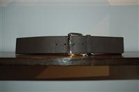 Black Leather Max Mara Belt, size M