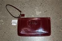 Cranberry Coach Wristlet, size S