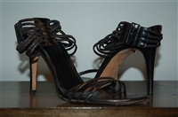 Black Leather Gucci Sandal, size 8