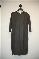 Darkest Taupe Annette Gortz Sheath Dress, size M
