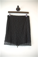 Black Lace Alexander McQueen Pencil Skirt, size 6