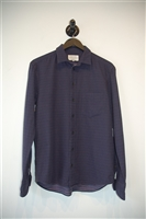 Navy Rag & Bone Button Shirt, size S