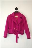 Magenta No Label Jacket, size S