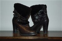 Black Leather Stuart Weitzman Ankle Boots, size 7.5