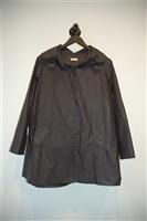 Basic Black Dace Rain Coat, size M