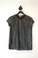 Basic Black No Label T-Shirt, size XS