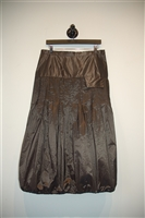 Dark Bronze Ula:She Bunched Skirt, size M
