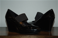 Black Patent Prada Wedge, size 7.5