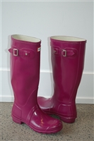 Magenta Hunter Rubber Boots, size 6