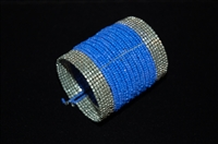Azure Blue No Label Cuff, size O/S