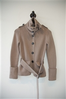 Taupe Burberry - London Sweater Jacket, size S