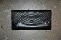 Black Leather Coach Wallet, size L