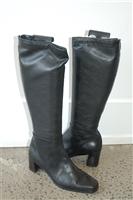 Black Leather Stuart Weitzman Boots, size 7
