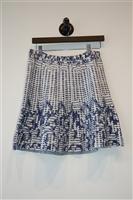 Navy & White BCBG Maxazria A-Line Skirt, size S