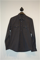 Gingham Gucci Button Shirt, size M