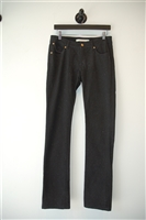 Sparkly Black Superfine Slim-leg Jean, size 30