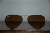 Brushed Gold Ray Ban Sunglasses, size O/S