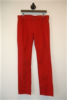 Deep Red Alexander McQueen Denim, size 32