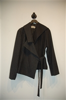 Houndstooth Ivan Grundahl Wrap Jacket, size M