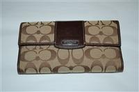 Monogram Coach Wallet, size O/S