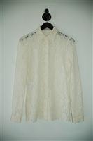 Cream Prada Button Shirt, size 6