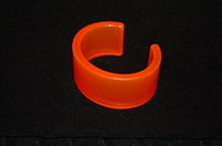 Neon Orange No Label Bangle, size O/S
