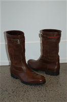 Rich Brown Gucci Boots, size 8.5