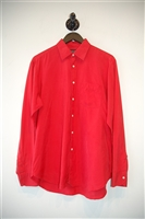 Bright Red Christian Dior - Vintage Button Shirt, size L