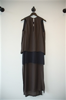 Dark Pewter Jeremy Laing Long Dress, size M
