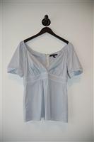 Blue Stripe BCBG Maxazria Short-Sleeved Top, size S