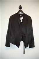Satin Black Skin Jacket, size S